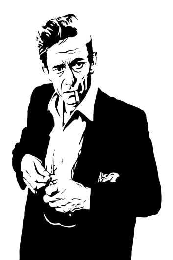Johnny Cash - The Man In Black from the Everything collection by Dropkickers