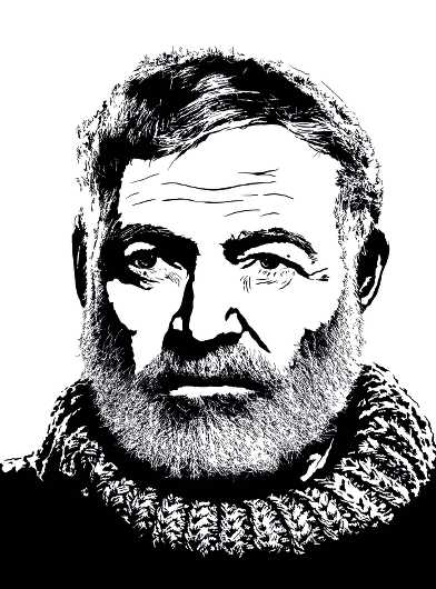 Ernest Hemingway - American Author from the Everything collection by Dropkickers