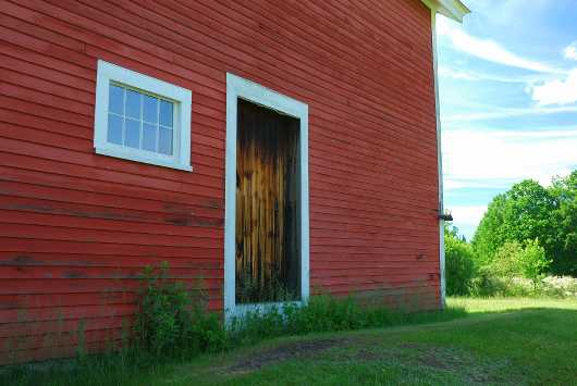 Red side of barn from the Barns collection by jndphoto