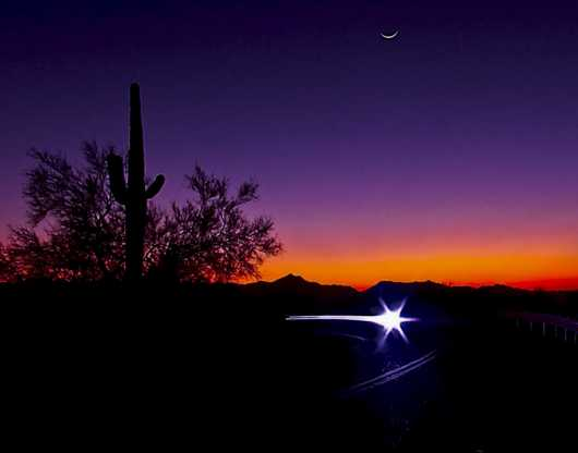 South Mountain Sunset Star! from the Arizona collection by Origel Photography