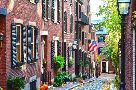 Acorn Street Autumn.jpg from the Landscapes collection by TJ Walsh Photography