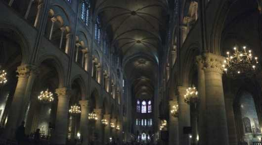 Inside Notre Dame (Paris) from the Scenic Panoramas collection by Michelle Pettinella
