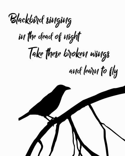 Blackbird | Beatles Inspired Art Print from the Lyric Art Prints collection by Lyrical Perceptions