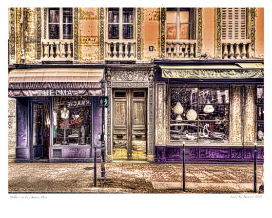 Thelmas in Le_Marais_16x20 Use Premium Matte Photo Paper from the Paris Art Prints collection by Ladee K Rickard