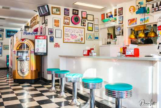 78 Mr D's Counter & Juke Box Arizona Route66 from the Route 66 collection by Denise Lett
