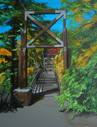 black_river_harbor_bridge.tiff from the Pathways  collection by Ewaldart