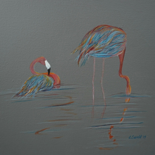 flamingo_action.tiff from the Buddies collection by Ewaldart
