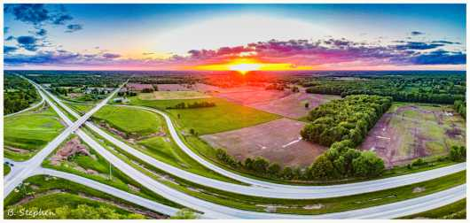 Sunset at 300 feet from the Panoramic collection by BRUCE STEPHEN