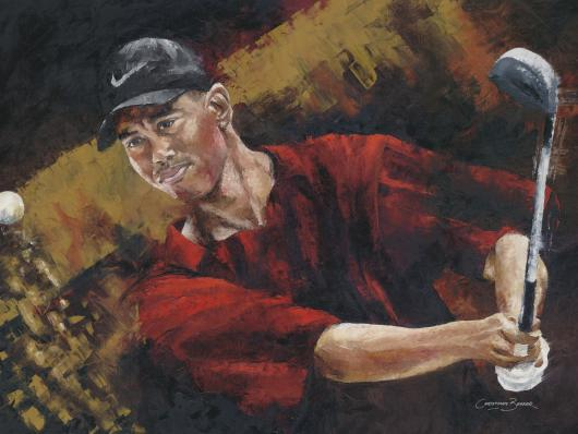 Tiger Woods Art Print from the Sports collection by Christiaan Bekker