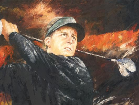 Phil Mickelson Art Prints from the Sports collection by Christiaan Bekker