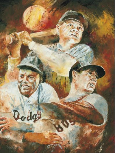 Babe Ruth Jackie Robinson Art Prints from the Sports collection by Christiaan Bekker