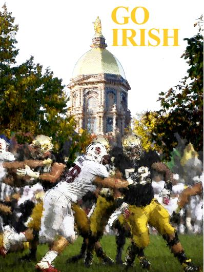 Notre Dame Art Prints from the Sports collection by Christiaan Bekker