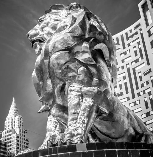 MGM Grand Lion from the DSN Fundraiser collection by Rachel Houghton