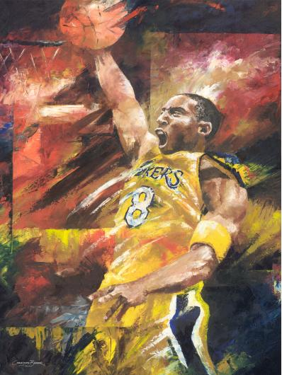 Kobe Bryant Art Prints from the Sports collection by Christiaan Bekker
