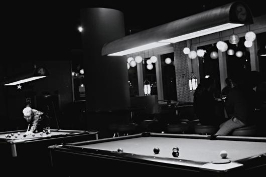 Pool Tables B/W from the Black / White collection by Art Exchange