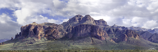 Superstitions Pano 2 from the Desert Panoramas collection by Lou Oates
