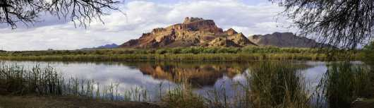 Red Mountain Panorama from the Desert Panoramas collection by Lou Oates