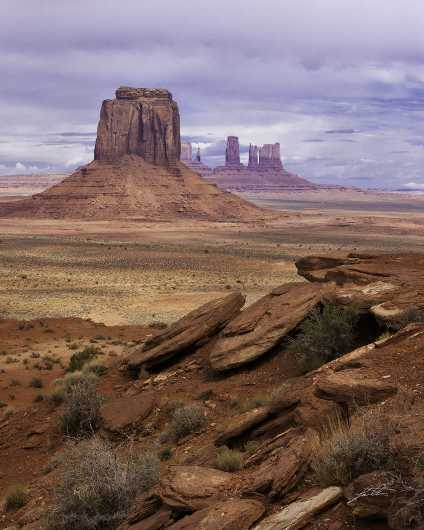 Monument Valley Ledge from the Red Rocks collection by Lou Oates