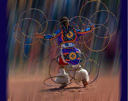 Hoop Dancer #1  2014 AZ State Fair Second Place from the Performers collection by Ladee K Rickard