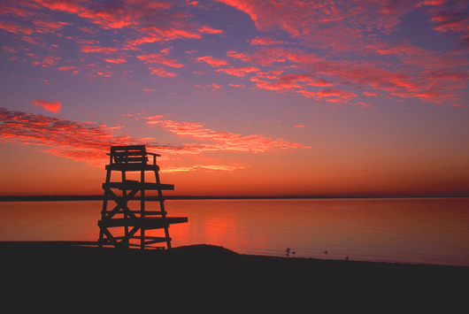 Lifeguard Chair Sunset from the Eastern Image collection by Eastern Image