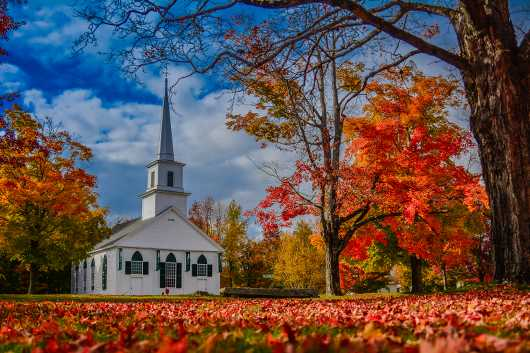 White Steeple in the Berkshires from the Landscapes collection by TJ Walsh Photography