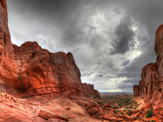 Elephant Butte Arches National Park Storm from the Desert Southwest collection by Art4Artists
