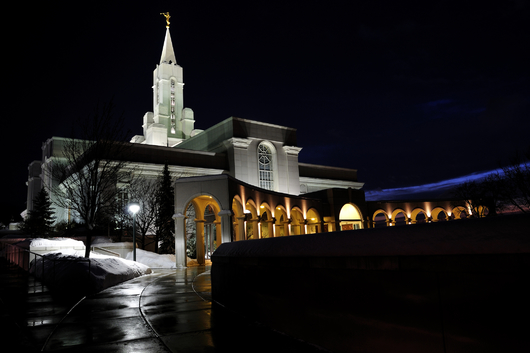 LDS Temple at Night from the Temples and Churches collection by Art4Artists