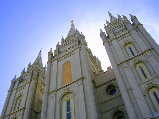 LDS Temple Salt Lake City Closeup from the Temples and Churches collection by Art4Artists