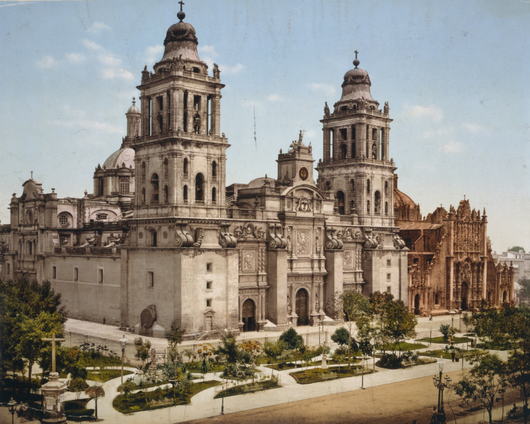 Vintage Mexico City Cathedral from the Temples and Churches collection by Art4Artists