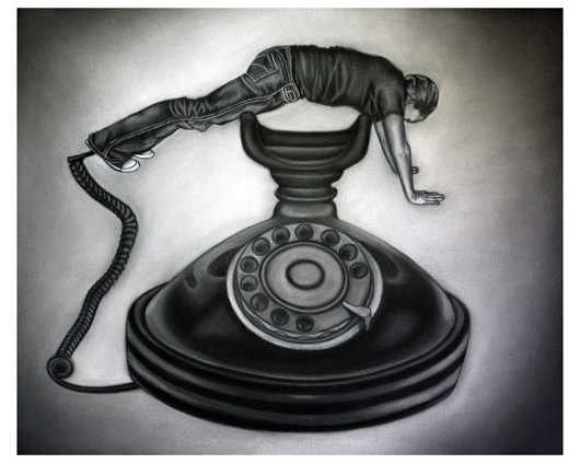 On the Phone from the Drawings collection by Courtney Kenny Porto