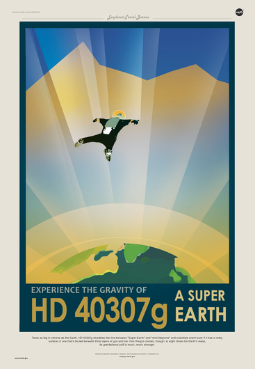 HD 40307g from NASA JPL Poster Series from the NASA JPL collection by Art4Artists