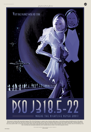 PSO J318.5-22 from NASA JPL Poster Series from the NASA JPL collection by Art4Artists