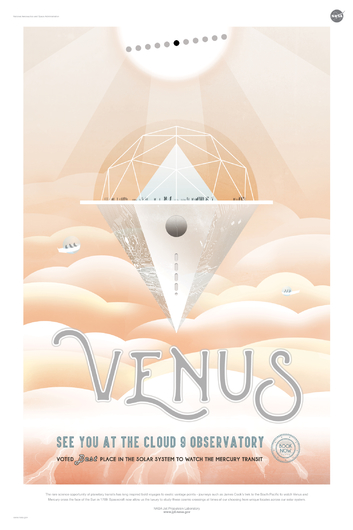 VENUS from NASA JPL Poster Series from the NASA JPL collection by Art4Artists