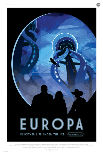 EUROPA from NASA JPL Poster Series from the NASA JPL collection by Art4Artists