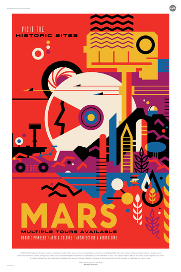 MARS from NASA JPL Poster Series from the NASA JPL collection by Art4Artists
