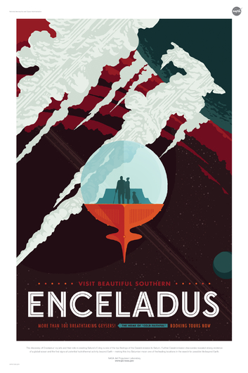 ENCELADUS from NASA JPL Poster Series from the NASA JPL collection by Art4Artists