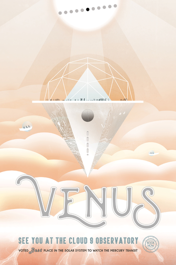 VENUS cropped from NASA Poster Series from the NASA JPL collection by Art4Artists