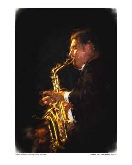 Jazz Sax Player from the Performers collection by Ladee K Rickard
