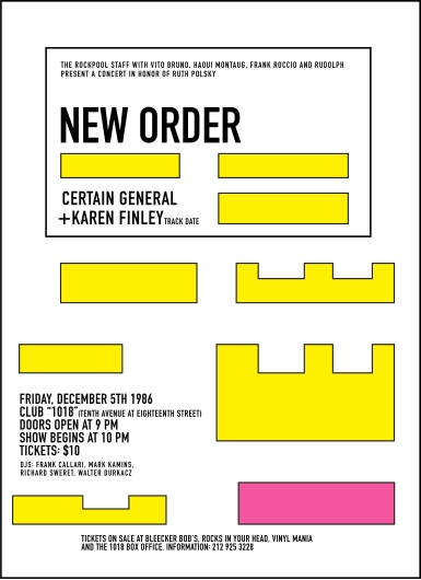 New Order Concert Poster 1018 New York NYC  from the Astropixel NYC collection by MyHouseCulture.com