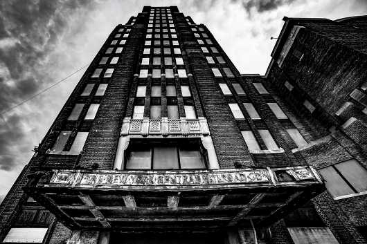 BW Central Terminal Building.  Abandoned Buffalo Series. from the Gallery Selection: July 2016 collection by clear. photography