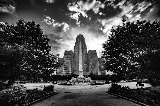 BW Niagara Square Print.  Summer in Buffalo Series.   from the Gallery Selection: July 2016 collection by clear. photography