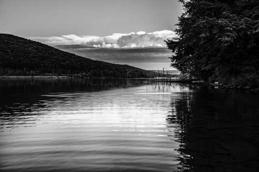 Black & White Quaker Lake, Allegany State Park. Spring Travel Series.  from the Gallery Selection: July 2016 collection by clear. photography