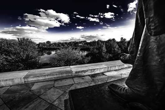 Abe's spot at the Japanese Gardens in Black, White & Blue. Summer in Buffalo Series.  from the Gallery Selection: July 2016 collection by clear. photography