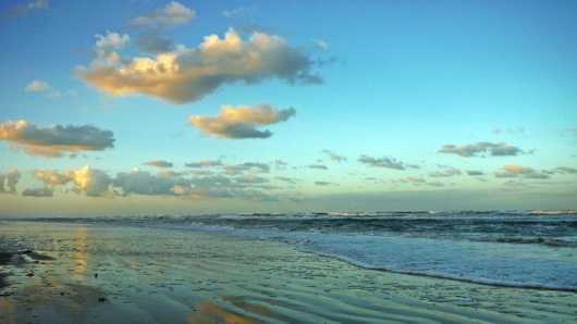 North Beach at Sunset II, NSB from the New Smyrna Beach collection by Russell C Tucker