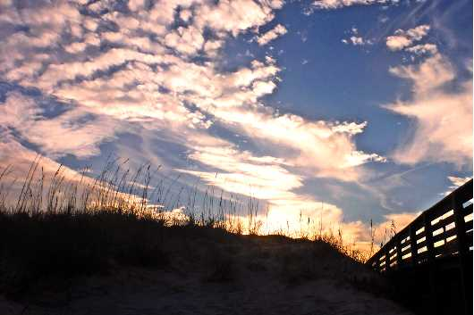 North Beach Sunset I, NSB from the New Smyrna Beach collection by Russell C Tucker