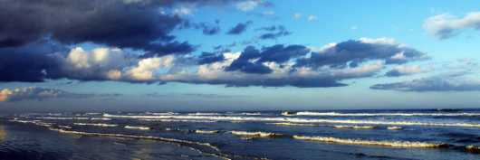 North Beach at Sunset, VI, NSB from the New Smyrna Beach collection by Russell C Tucker
