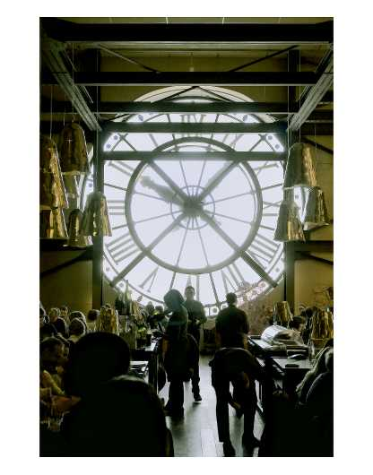 Musee D'Orsay Clock Metallic 11x14 from the Digital Art collection by Ladee K Rickard