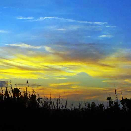 Sunset on Indain River, NSB from the New Smyrna Beach collection by Russell C Tucker